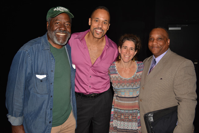 from left:  Frankie Faison, myself, Cheryl Katz (Luna Stage artistic director), and Craig Alan Edwards