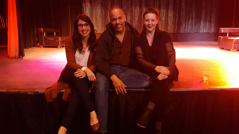 """From left, Southern Shakespeare Company Executive Director, Laura Johnson, me, and director Kim Weild at Village Square's """"Created Equal"""" event."""