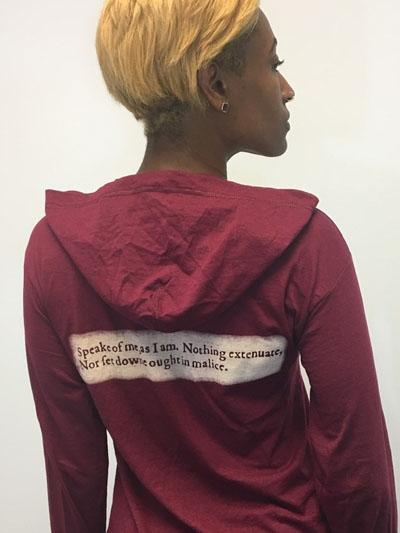 Burgundy American Moor shirt