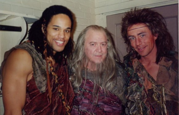 In the 1992 production of Cymbeline at The Huntington Theatre Company w/ Jack Aronson (center) and Matthew Loney (right)