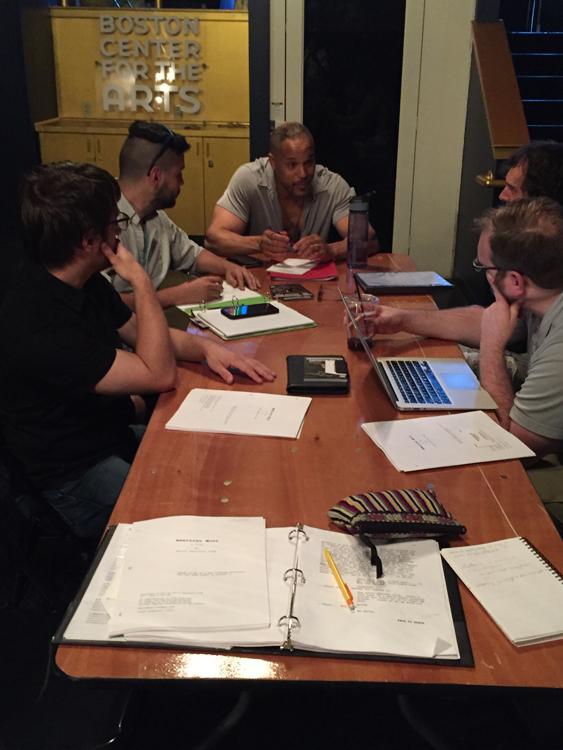 W/ the creative team, actor, stage manager, dramaturg, sound designer.